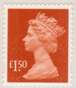 U2913 Security Machin Stamp £1.50 S/A (No Source Code No Date Code)